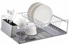 Home Basics Dish Rack Chrome Tray New