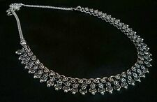 GORGEOUS SILVER PLATED OXIDISED NECKLACE FOR GOSSIP GIRLS AND WOMEN,,NEW