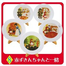 "Re-Ment ""Fairytale  #8 - Red Riding Hood Plates"", 1:6 mini Barbie size dollhouse"