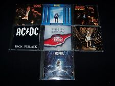 CD AC/DC 7 Metal lot CDs Discs Back Black Live Who Made Razors Edge + MINT CASES