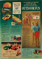 1975 PAPER AD 5 Pg Doll Barbie Camping ATC Cycle Beach Bus Sun Valley Wardrobe
