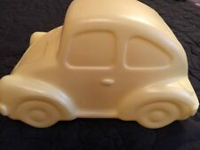 Vintage Classic Plastic Yellow Volkswagen Bug Beetle Glo Light Battery Operated