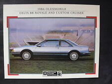 GM OLDSMOBILE Delta 88 Royale Custom Cruiser - US-Prospekt Brochure 09.1985