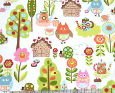 Moda Keiki Cherry On Top Owls Icing Fabric
