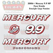 2006+ Mercury 9.9HP STR Straight Logo FourStroke Outboard Repro 5 Piece Decal 4S