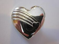 The VARIETY CLUB Vintage Gold Tone Heart Shaped Pin Brooch