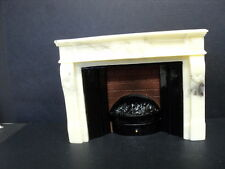 DOLLHOUSE FIREPLACE/ MARBLE LOOK/ ELECTRIC/A2333/LG.