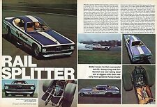 1971 Great Magazine Centerfold Pic of King & Marshall Plymouth Duster Funny Car.
