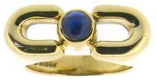 18Carat 18ct Yellow Gold Cabochon Sapphire Solitaire Rings Exclusive Design