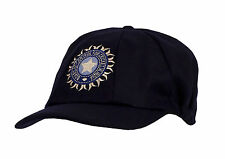 CLASSIC TRADITIONAL MELTON CRICKET CAP WITH INDIA LOGO BLUE SMALL PEAK 58-62cm