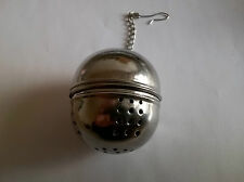 STAINLESS STEEL BALL SHAPED TEA INFUSER STRAINER (BRAND NEW)