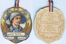 Insigne de journées 1914/1918 - Journée armée d'Afrique infanterie coloniale RAR