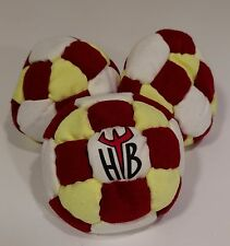 Hellbender 32 Panel SAND Filled Microsuede HackySack Footbag Red,Yellow,White