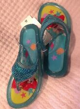 NWT DISNEY STORE ARIEL THE LITTLE MERMAID TODDLER JELLY SANDALS ~ SIZE 9/10