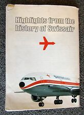 Vintage Highlights from the History of Swissair large Poster planes