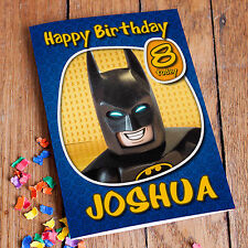 THE LEGO BATMAN MOVIE   Personalised Birthday Card! FREE Shipping!