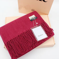 Elegant Acne Pure Color Pashmina Virgin Wool Cashmere Scarf Shawl Unisex