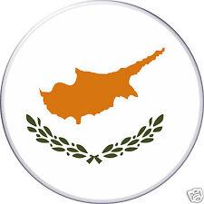 5 x sticker 5cm auto moto velo valise pc portable drapeau Rond Chypre
