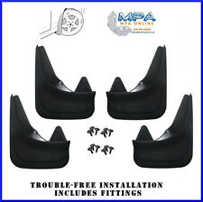 SET OF 4 MUDFLAPS FOR VOLVO C30 S40 V40 - MOULDED UNIVERSAL FIT