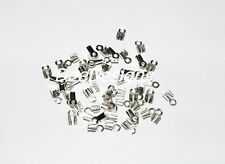 CRIMP ENDS- Fold, 6x3mm, fit 2mm Cord, Silver Plated, Qty. of 50, #21654