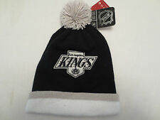 MITCHELL & NESS NHL LOS ANGELES KINGS STRIPE CAP LOGO KNIT WINTER HAT BEANIE