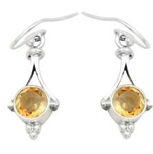 Natural Citrine Gemstone Earrings Solid 925 Sterling Silver Jewelry IE20827