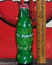 2015 WORLD OF COCA COLA HAPPY ST PATRICK'S DAY POT OF GOLD 8 OZ COCA COLA BOTTLE