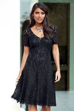 NEW £65 NEXT BLACK LACE SKATER PARTY DRESS - SIZE 6 BNWT