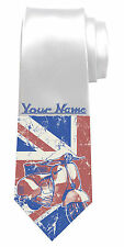 SCOOTER MOPED PERSONALISED NECK TIE *ANY NAME/TEXT COLOUR *MEN'S GIFT/PRESENT*