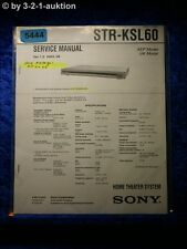 Sony Service Manual STR KSL60 Home Theater Sytem (#5444)