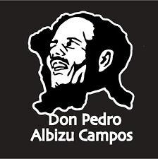 PUERTO RICO CAR DECAL STICKER DON PEDRO ALBIZU CAMPOS #91