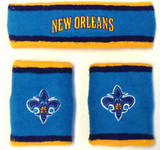 NWT NBA New Orleans Hornets Adidas Wristband & Headband 3 Piece Gift Set NEW