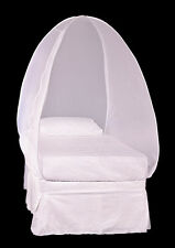 Pyramid Mosquito Net Cover for Single Bed White ZI Technology Lasts Up to 2 Year