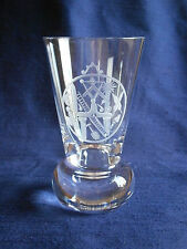 TRADITIONAL MASONIC FIRING GLASS WHEEL ENGRAVED WITH AN 18th CENTURY PLATE JEWEL