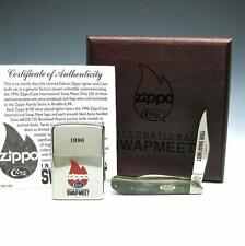 Vintage 1996 Zippo Case XX Swap Meet Silver Plated Lighter & Knife Set 186/250