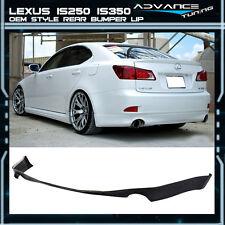 06-13 Lexus IS250 IS350 OE Style Urethane Rear Bumper Lip Spoiler Body Kit PU
