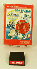 Vintage Boxed Intellivision Game Sea Battle Tested & Working