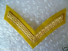 Patch- Lance Corporal Chevron Gold  on Yellow Mess Dress Tapes (New*)