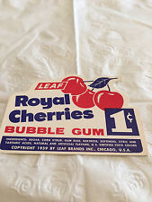 Gumball Machine Display Card #97 Royal Cherries Bubble Gum  - 1 Cent