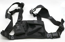 Universal Hands Free Chest Pack Bag Harness for Motorola KENWOOD Midland Radio