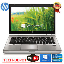 HP LAPTOP ELITEBOOK 8460p i5 2.5GHz 4GB 320GB DVDRW WEBCAM WINDOWS 10 WiFi PC HD