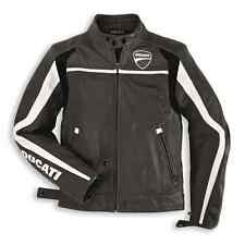 NEW DUCATI Twin Leather Jacket Black/White MENS SIZE 58