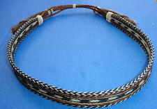 "Western Decor Cowboy HAT BAND Woven 7 Strand Horsehair With Tassels 3/4"" Wide"