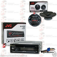 "JVC KD-R370 1-DIN CAR AUDIO CD MP3 AUX STEREO WITH  6.5"" 2-WAY COAXIAL SPEAKERS"