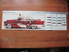 1956 Plymouth Belvedere Savoy Plaza Sport Suburban Brochure Advertising Poster