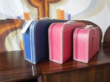 Puppen Koffer Anna & Clara GRENE rosé NOS 60er TRUE VINTAGE 70er danmak 30x21x9