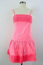 Abercrombie & Fitch Dress Sun Summer Pink Womens Juniors Lace SZ 10 NWT