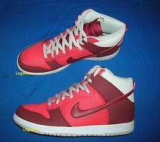 Nike Dunk High Basketball Sneakers Shoes Hyper Red Grey Men 13 New With Box Gym