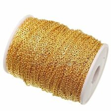5m Gold Plated Iron Metal Cable Open Link Chain Findings For Jewelry Making New