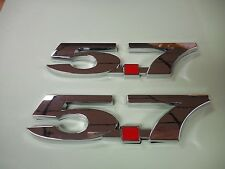 NEW 5.7 CHEVY CHEVROLET GM V8 FENDER EMBLEMS CHROME PAIR